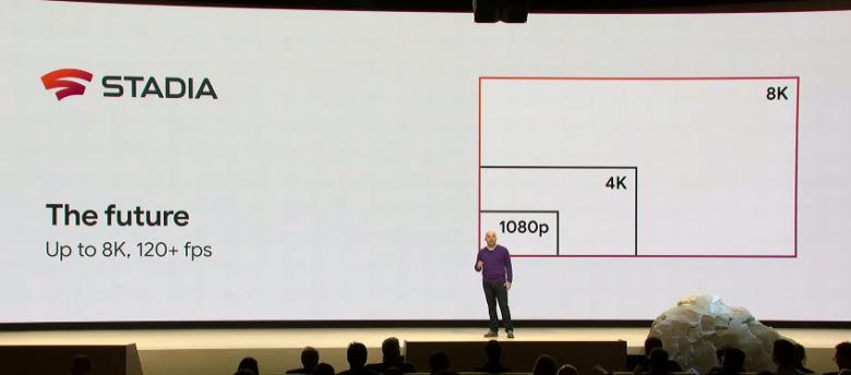 Stadia зможе видавати на пристрій користувача зображення у роздільній здатності 8К. Фото з GDC 2019.