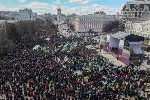 У мітингу на підтримку Порошенка у Києві взяли участь до 40 тисяч осіб