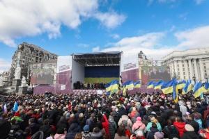 Petro Poroszenko spotkał się ze swoimi wyborcami w Kijowie