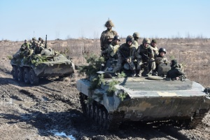 Russian-led forces launch three attacks on Ukrainian troops in Donbas