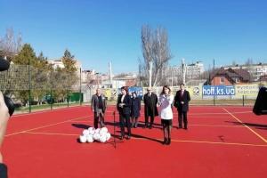 Марина Порошенко открыла спортплощадку для детей с нарушениями слуха на Херсонщине
