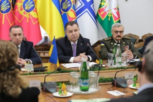 Verteidigungsminister der Ukraine empfängt in Kyjiw US-Delegation
