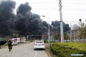Количество жертв взрыва на заводе в Китае возросло до 78