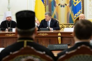 Порошенко просит церкви призывать к проведению выборов без насилия