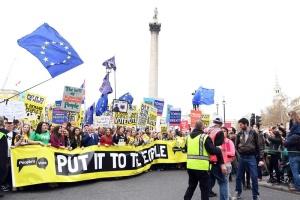 В Лондоне проходит массовая демонстрация противников Brexit