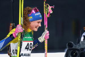 Шведка Эберг выиграла масс-старт на этапе Кубка мира по биатлону в Норвегии