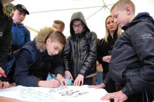Акция в поддержку пленных моряков состоялась в Львове