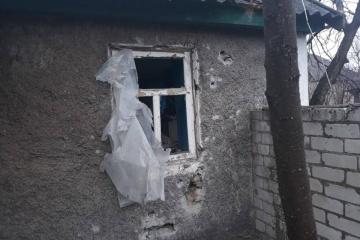 Besatzer schießen mit Mörser auf Dorf Troizke in Oblast Luhansk