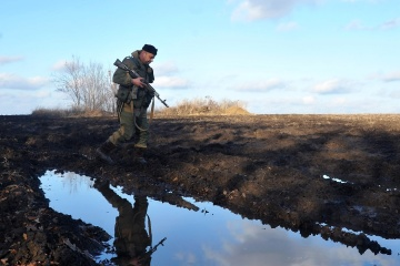 Ukrainian troops came under mortar fire in Donbas in past day
