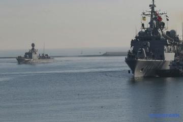 Buques de la Armada turca entraron en el puerto de Odesa (Fotos)