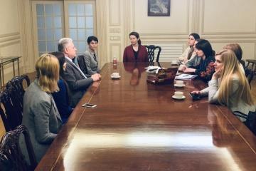 Yelchenko meets with Ukrainian delegation at UN women activists' summit