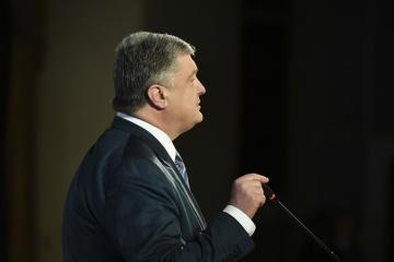 ポロシェンコ大統領、1+1局を偽情報拡散と名誉毀損で起訴へ