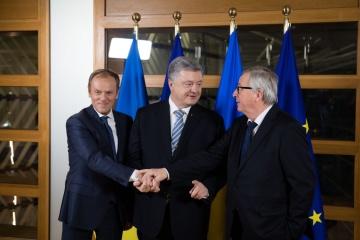 El presidente de Ucrania participó en la mini-cumbre Ucrania-UE