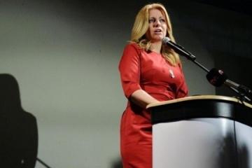El presidente de Ucrania felicita a la presidenta electa de Eslovaquia