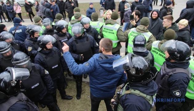 Через сутички у Херсонській мерії поліція склала два адмінпротоколи