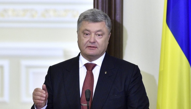 Poroshenko thanks US, EU and Canada for imposition of sanctions on Russia