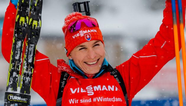 Словачка Кузьмина выиграла спринт на заключительном этапе Кубка мира по биатлону