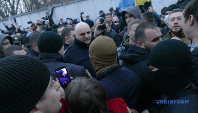 Акції Нацкорпусу: Порошенко вимагає покарати за насильство у Києві та Черкасах