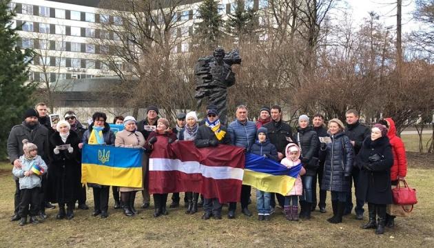 У Ризі провели флешмоб і вшанували Шевченка