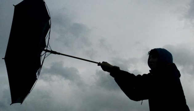 Через сильний вітер у Києві оголосили