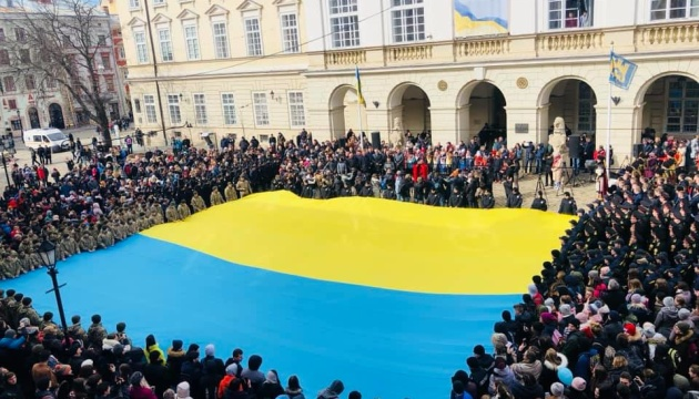 У Львові тисячоголосий хор виконав Гімн України