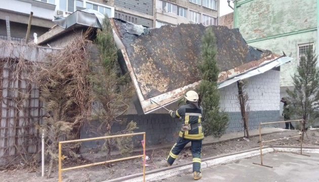 В Киеве спасатели 19 раз ехали на вызов из-за поваленных деревьев, столбов и баннеров