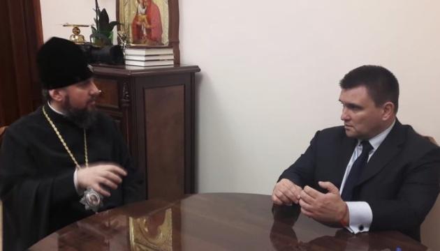 Клімкін і Епіфаній обговорили захист прав вірян на окупованих територіях