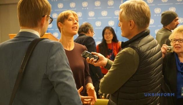 Президент Естонії в ООН: Треба називати речі своїми іменами - у Європі йде війна
