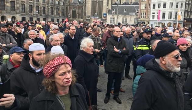 В Амстердамі хвилиною мовчання вшанували пам'ять загиблих у Новій Зеландії