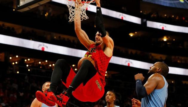 """Український баскетболіст Лень заробив 2 очки в матчі НБА """"Атланта"""" - """"Х'юстон"""""""