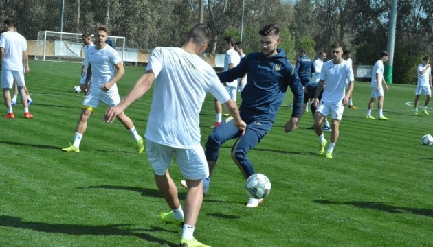 Футбольна збірна України U-21 провела в Туреччині перші тренування