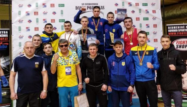 Молодіжна збірна України з боксу завоювала 6 нагород на турнірі у Вільнюсі