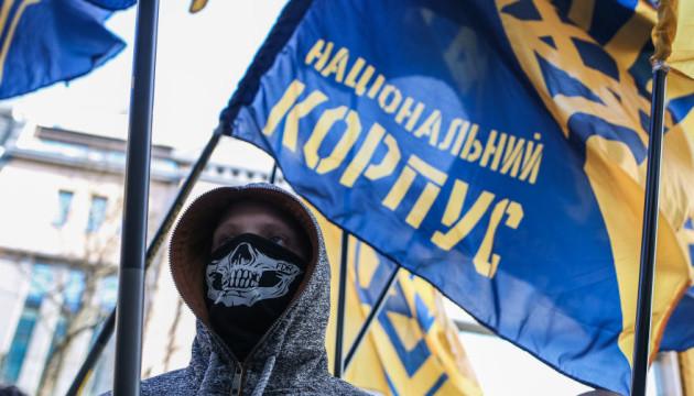 Нацкорпус перекрыл движение возле места встречи Порошенко с винничанами