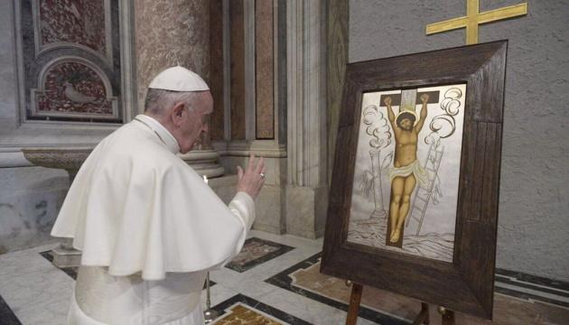 Папа Римський благословив чудотворну ікону з України