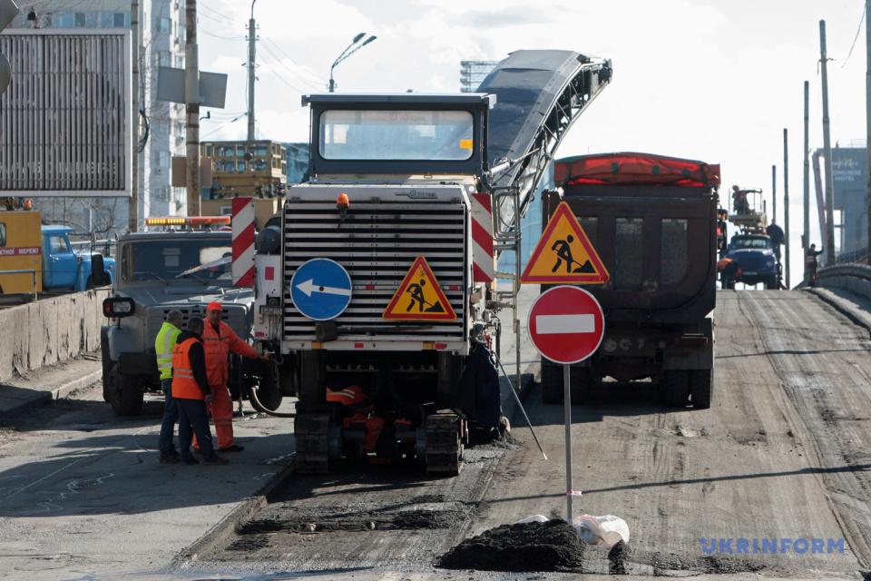In der Hauptstadt begann Rekonstruktion der Schuljawka-Überbrückung / Foto: Julia Owsjannikowa, Ukrinform