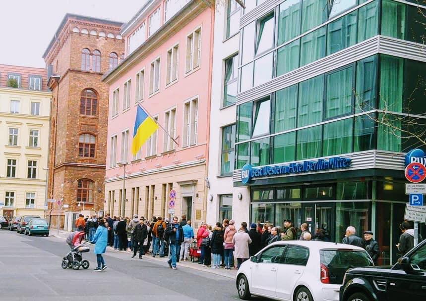 У день голосування на виборах Президента України в Німеччині