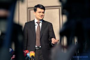 Razumkov: Otros miembros del equipo de Zelensky se presentarán este jueves