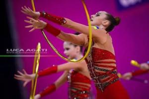 Gimnastas ucranianas ganan el oro en los ejercicios grupales en la etapa de la Copa del Mundo en Sofía (Vídeo)