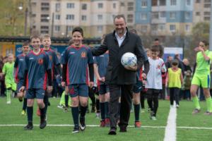 Павелко взяв участь у церемонії відкриття 2 нових стадіонів на Дніпропетровщині