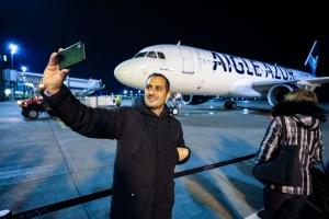In Boryspil erster Aigle Azur-Flug empfangen