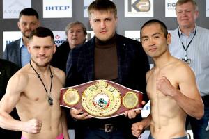 Беринчик, Аракава и другие участники вечера бокса в Киеве провели процедуру взвешивания