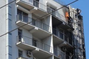 В Одессе горел 12-этажный жилой дом