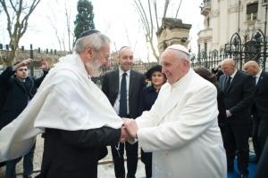 Папа Франциск і Головний Рабин Риму обмінялися привітаннями з нагоди Песаху