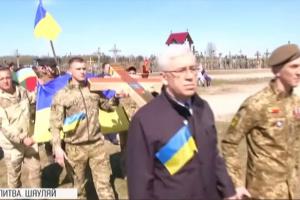 В Литве установили 20-й памятный крест погибшим украинским воинам