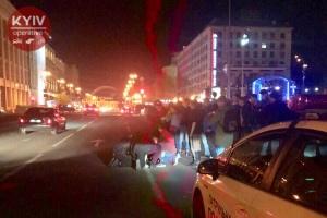 На Майдані поранили поліцейського і викрали службовий Prius - ЗМІ