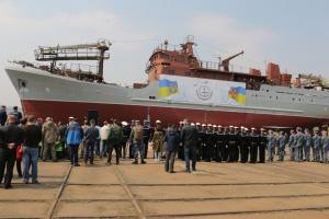 Aufklärungsschiff für ukrainische Marine vom Stapel gelaufen – Fotos, Video