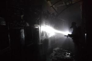 В Краматорске горел ферросплавный завод