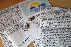 Сущенко надіслав українській активістці у Латвії лист з малюнком