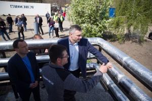 Кличко проверил, как работают новые фильтрационные станции мусорного полигона в Подгорцах