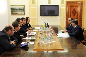 Omelian propone crear una subsidiaria de Qatar Airways en Ucrania (Fotos)